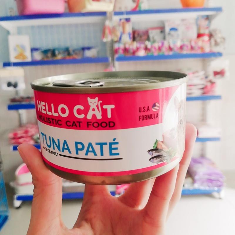 Pate Mèo Hello Cat Cá Ngừ Lon 190 Gr