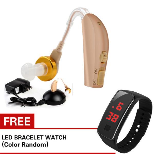 [Với đồng hồ LED miễn phí]Máy trợ thính Pin sạc đeo sau tai Axon C108