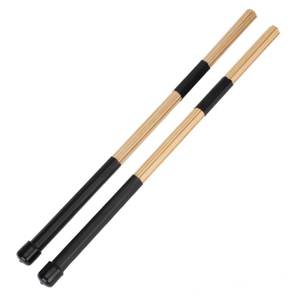 1 Pair 15.7 40cm Jazz Drum Brushes Drum Sticks Bamboo Black Drum Accessories ,Black - intl