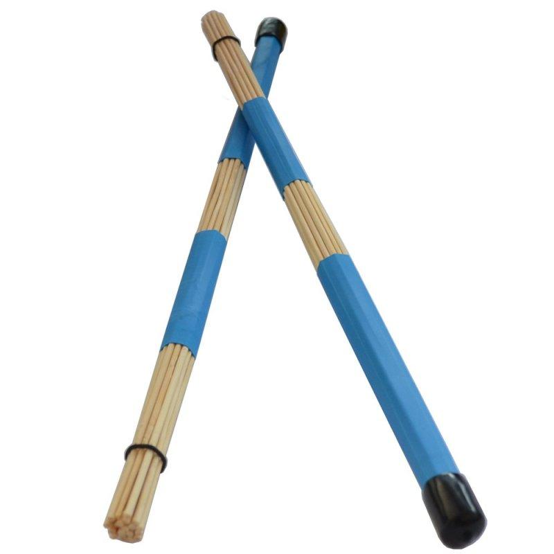 1 cặp Trống Jazz Bàn Chải-Trống Gậy 40 cm/làm bằng tre (Xanh Dương)-quốc tế