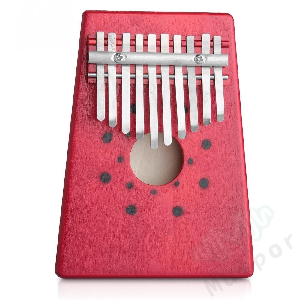 10Keys Kalimba Mbira Thumb Piano Traditional Musical Instrument Portable Great Gift,Red - intl