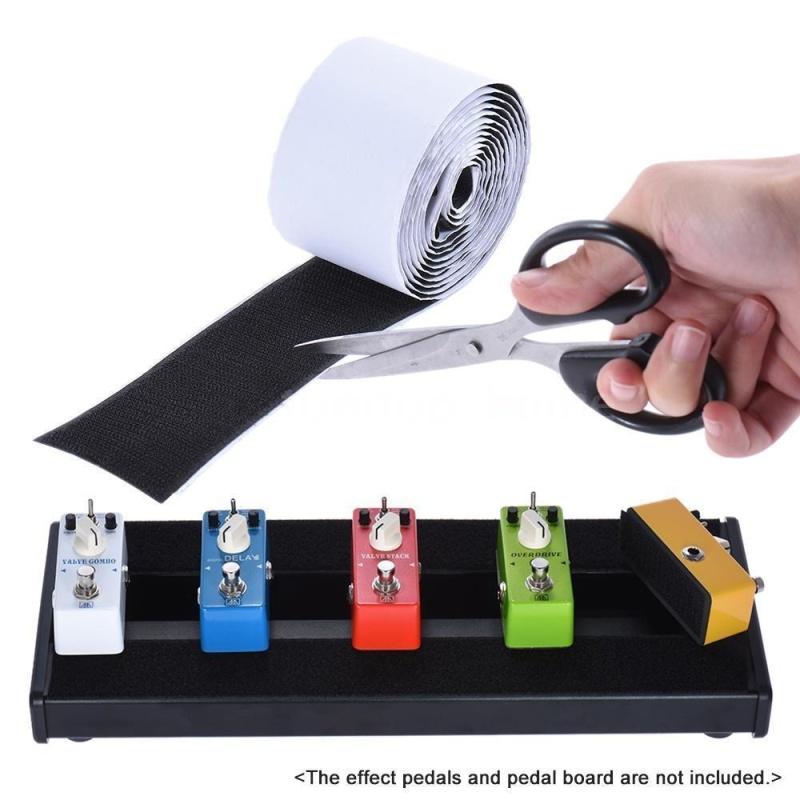 2 Rolls 5cm * 2m Guitar Pedal Board Mounting Tapes Fasteners (1 Hook + 1 Loop) - intl