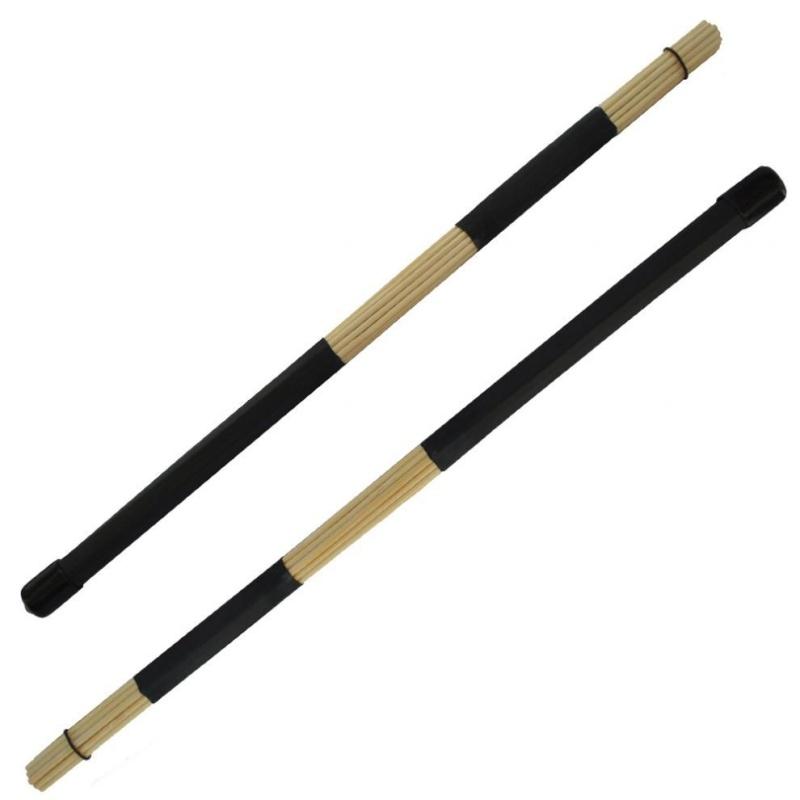 2 cái Trống Jazz Bàn Chải với 40 cm Trống Gậy Chụp Hình (Màu Đen)-quốc tế