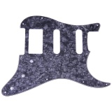 Ôn Tập 3 Lớp Đan Guitar Điện Pvc Pickguard Cho Fender Strat St Đen Quốc Tế Vakind