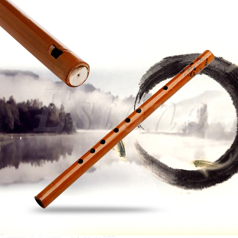 6 Hole Bamboo Flute Clarinet Student Musical Instrument Wood Color,Brown - intl