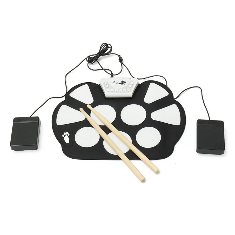 6 cái Có Thể Gấp Gọn USB Điện Tử Cuộn lên Khay Trống Silicon Bộ Bộ Dụng Cụ Âm Nhạc-quốc tế