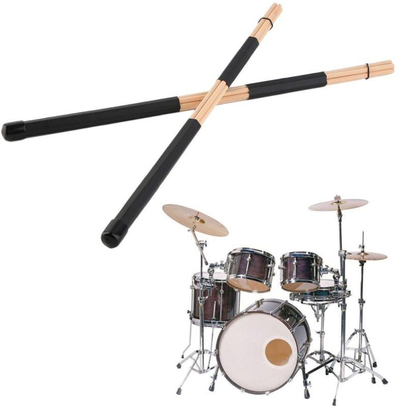 Allwin 1 cặp Cao cấp WoodenHot Thanh Rute Trống Jazz Gậy Dùi Trống 40 cm Bằng Gỗ (Quốc Tế)