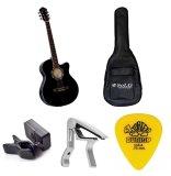 Bộ Đan Guitar Acoustic Vines Va3910Bk Bao Đan Guitar 03 Lớp Sol G Capo Pba05Sl May Len Day Pd Jt30 Va Mong Gảy Dunlop 4180 Vines Chiết Khấu