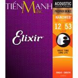 Ôn Tập Trên Bộ Day Đan Elixir Cỡ 12 Acoustic Guitar Phosphor Bronze Strings 16052 Hang Phan Phối Bởi Tiến Mạnh Music Phủ Lớp Nanoweb Cao Cấp Cam Kết 100 Chinh Hang Sai Hoan Tiền Gấp 10 Lần