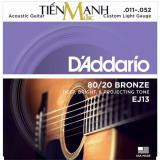 Mua Bộ Day Đan Guitar Acoustic Cỡ 11 D Addario Ej13 Hang Phan Phối Chinh Thức Strings 80 20 Bronze Cam Kết 100 Chinh Hang Usa Sai Hoan Tiền Gấp 10 Lần Mới Nhất