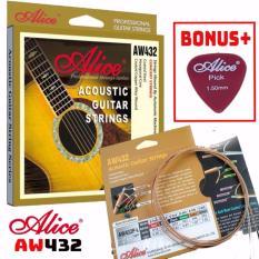 Bộ Hộp 6 Dây Đàn Ghi-ta Acoustic Alice-A-432 Cao Cấp, Bonus + Pick Alice Nhật Bản