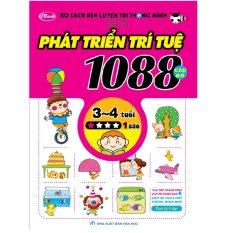 Sách thiếu nhi - 1088 CÂU ĐỐ PHÁT TRIỂN TRÍ TUỆ cho bé 3-4 tuổi cấp độ 1 sao Nhật Bản