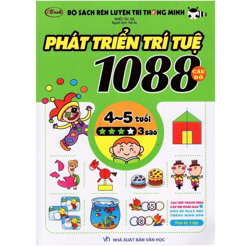Mua Sách thiếu nhi - 1088 CÂU ĐỐ PHÁT TRIỂN TRÍ TUỆ cho bé 4-5 tuổi cấp độ 3 sao