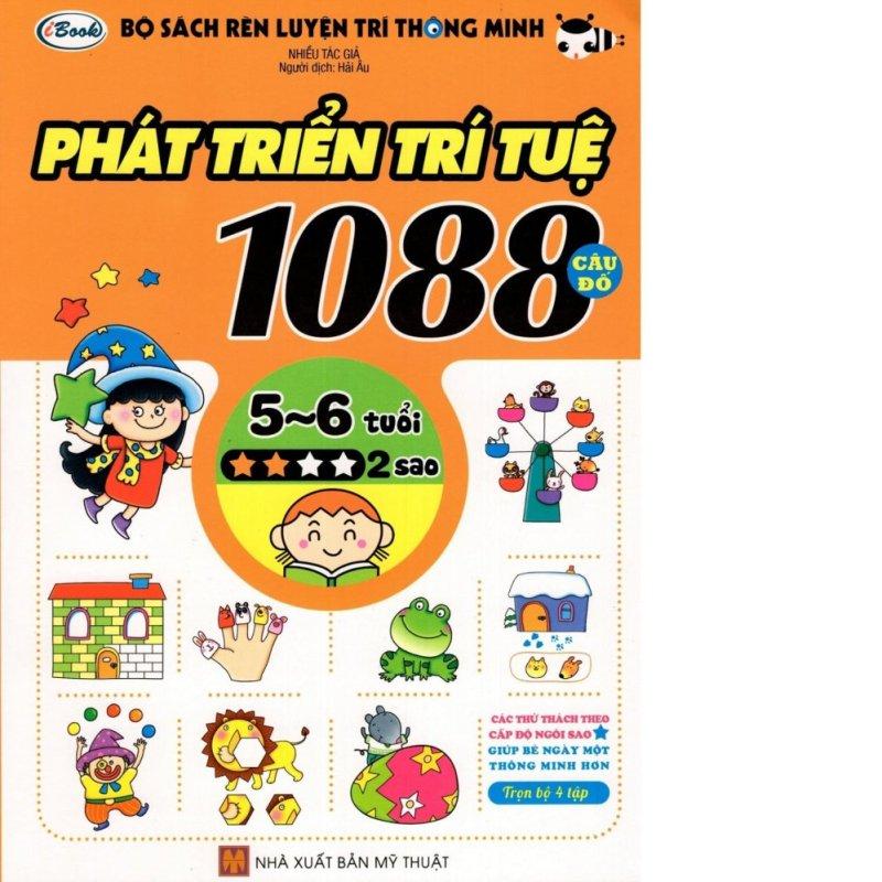 Mua Sách thiếu nhi - 1088 CÂU ĐỐ PHÁT TRIỂN TRÍ TUỆ cho bé 5-6 tuổi cấp độ 2 sao