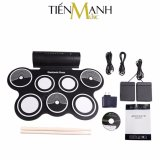 Ôn Tập Bộ Trống Điện Tử Konix Portable Digital Drum Md759 Hỗ Trợ Kết Nối May Tinh Hà Nội