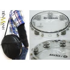 Combo Trống Lắc Tay Và Bao đựng Lục Lạc Gõ Bo Tambourine Yamaha MT6-102T (Trong Suốt - Trống Chơi Nhạc Chế Gõ Po - Xipo) Giá Quá Ưu Đãi