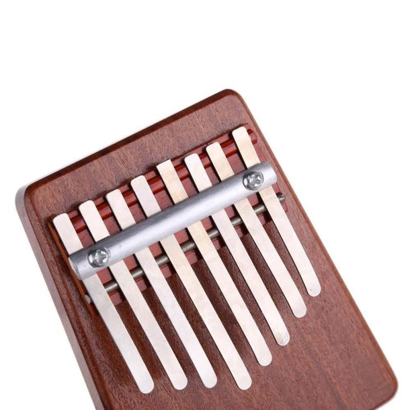 Cúc đàm 8 Phím Ngón Tay Piano Kalimba Mbira Likembe Sanza Ngón Tay Cái Đàn Piano (Đỏ)-quốc tế