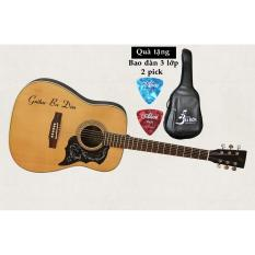 Bán Đan Guitar Acoustic Ba Đờn D 200 Mau Gỗ Bao Đan Cao Cấp 3 Lớp Guitar Ba Đờn Rẻ