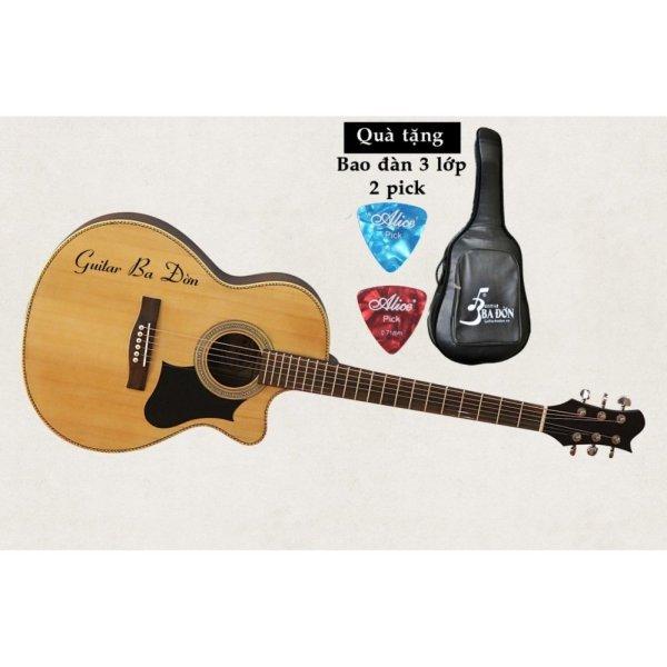 Đàn Guitar Acoustic Ba Đờn J-130 ( màu gỗ) + Bao đàn cao cấp 3 lớp