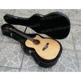 Đàn Guitar Acoustic Cao Cáp Mahogany Hòng Đào Bắc Phi Dáng A Khuyét Bao Da 3 Lớp Phím Gảy Alice Oem Chiết Khấu
