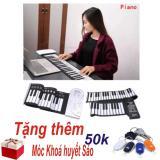 Chiết Khấu Sản Phẩm Đan Piano Điện Tử Ban Phim Cuộn Dẻo 49 Keys Trắng Hang Nhập Khẩu Tặng Moc Khoa Huyết Sao Thong Minh
