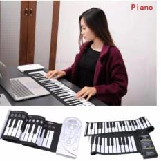 Đàn Piano điện Tử Bàn Phím Cuộn Dẻo 49 Keys (trắng) Loại 2018 - Hàng Nhập Khẩu Loại 1 By Duyanhshop.