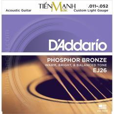 Giá Bán Bộ Day Đan Guitar Acoustic D Addario Ej26 Mới