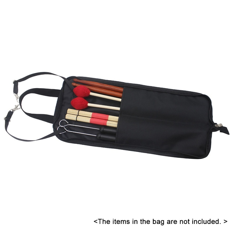 Drum Stick Bag Case Water-resistant 600D with Carrying Strap for Drumsticks,Black - intl