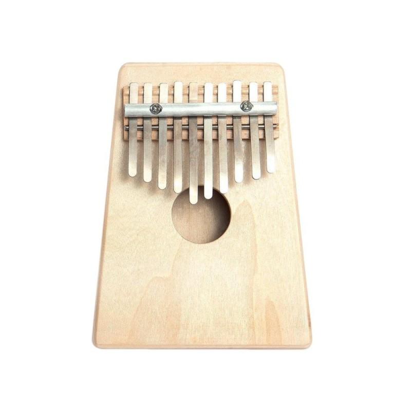 THỜI ĐẠI 10 Phím Ngón Tay Mbira Kalimba Ngón Tay Cái Đàn Piano Mini Gỗ Thông Nhạc Cụ Gõ Hạt Dẻ-quốc tế