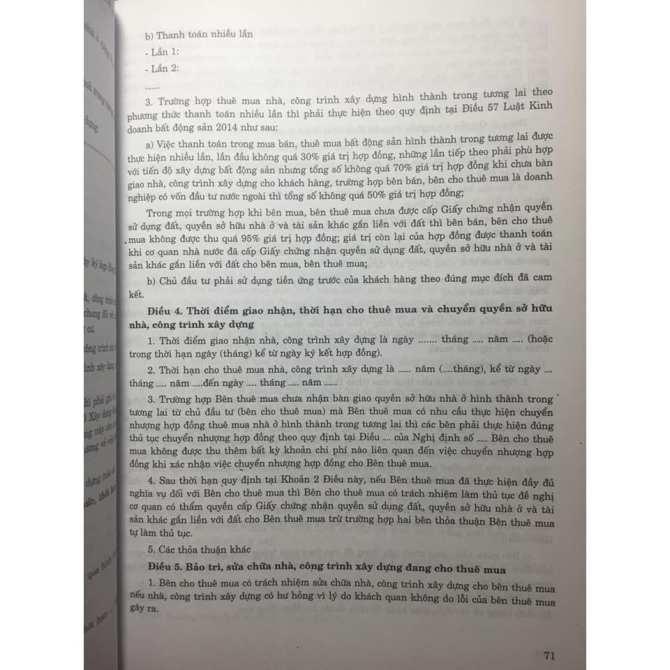 HƯỚNG DẪN SOẠN THẢO HỢP ĐỒNG THEO BỘ LUẬT DÂN SỰ SỐ 91/2015/QH13 - KINH NGHIỆM SOẠN THẢO, XỬ LÝ TRANG CHẤP, BIỆN PHÁP PHÒNG TRÁNH RỦI RO PHÁP LÝ