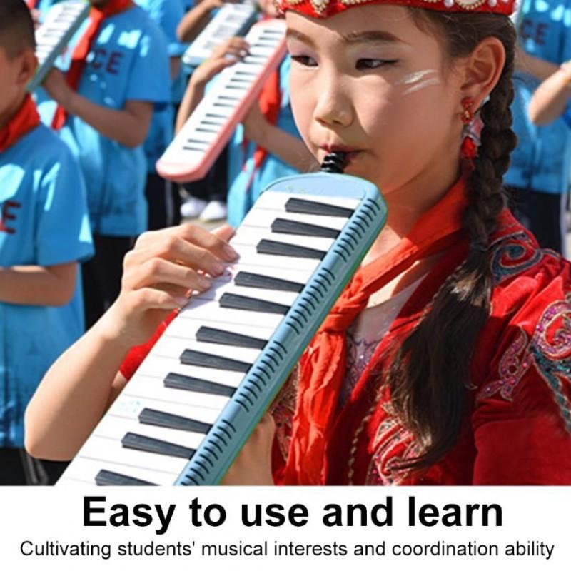 IRIN Bàn Phím Kèn Harmonica Giáo Dục Âm Nhạc Cụ dành cho Người Mới Bắt Đầu Trẻ Em Trẻ Em (Màu Xanh 37 Phím)-quốc tế