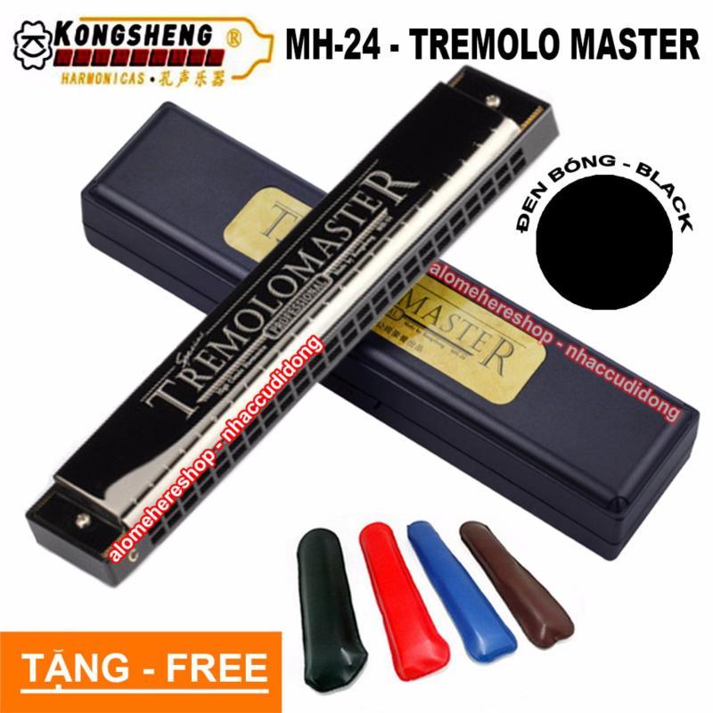 Kèn harmonica Kongsheng Tremolo Master key C MH-24 (Đen)