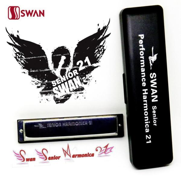 Kèn harmonica tremolo Swan Senior 21 lỗ comb kín key C SW21H