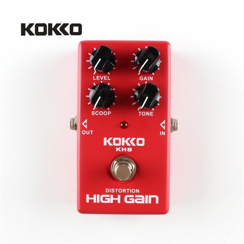 KOKKO KH8 Đỏ Biến Dạng Tăng Cao Guitar Bass Điện Tác Dụng Bàn Đạp Chân Thực Bỏ Qua Guitarra Hiệu Ứng Cho Đàn Ukulele Phần Phụ Kiện- quốc tế
