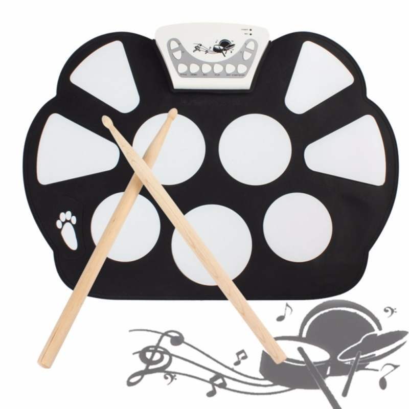 Media, Music Books Electronic Drums W758 Digital Portable 9 Pad Silicone Electronic Roll-Up Drum Kit - intl