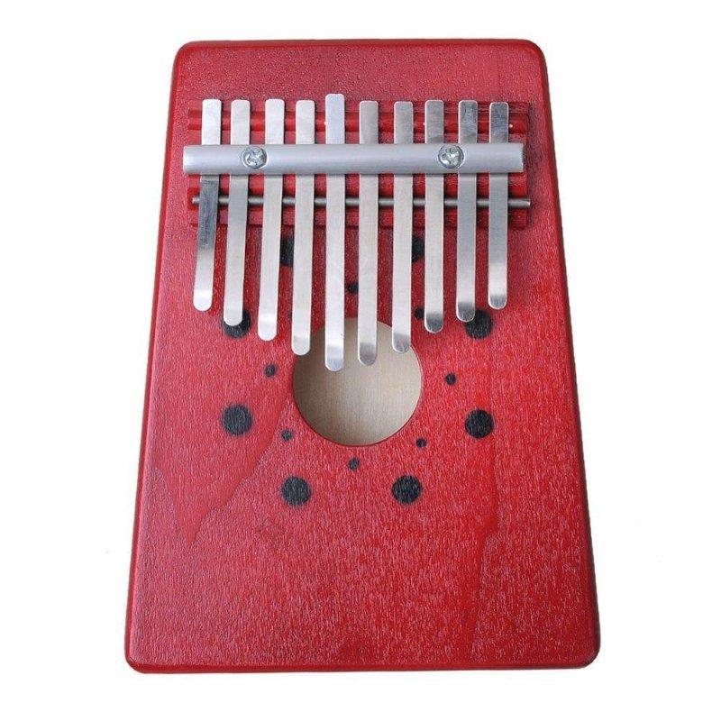 Noion 10 Phím Ngón Tay Piano Kalimba Mbira Likembe Sanza Ngón Tay Cái Đàn Piano (Đỏ)-quốc tế