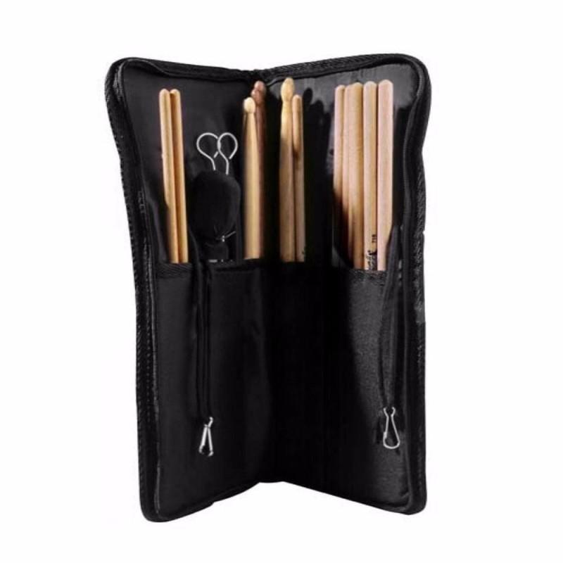 Nylon Drumstick Bag Beater Mallet Brush Drum Stick Storage Shoulder Case Bag Holder Pouch Gigbag Durable,Black - intl