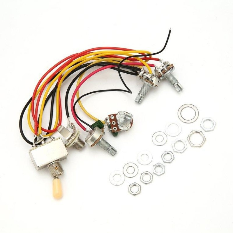 OH 1 Full Set LP SG Electric Guitar Pickup Wiring Harness Potentiometers Kit - intl