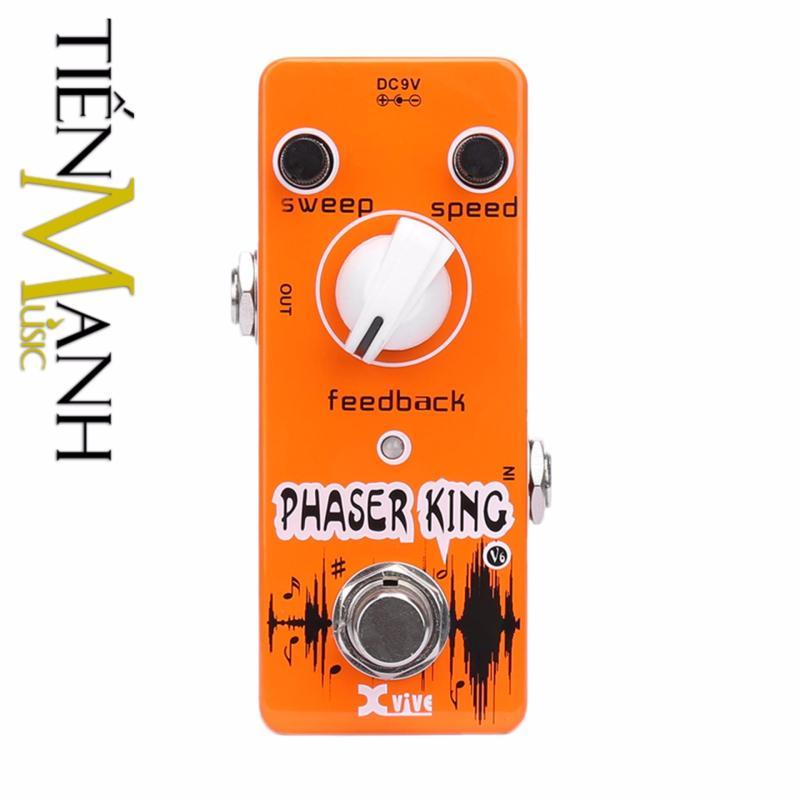 Phơ Guitar Xvive Analog Phaser King V6 (Có Nguồn xịn đi kèm - Bàn đạp Fuzz Pedals Effects)