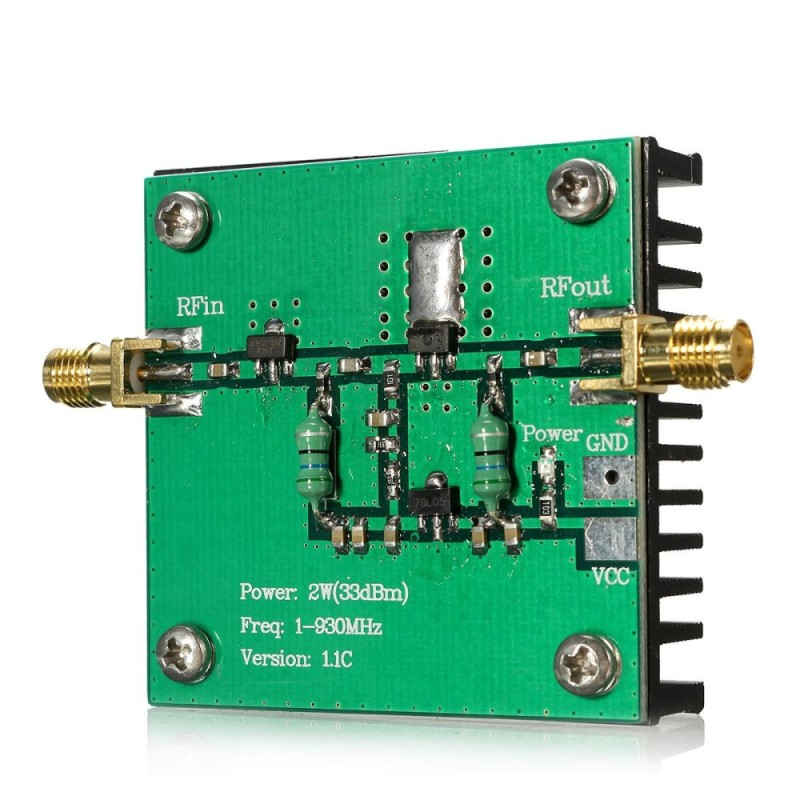 RF Băng Thông Rộng 1-930 mhz 2 wát Bộ Khuếch Đại Công Suất Mô Đun Cho Truyền Dẫn Vô Tuyến FM HF VHF-quốc tế
