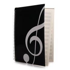 Xã stave Sách Âm Nhạc Tờ Bản Thảo Giấy A4 40 Trang Đen-quốc tế