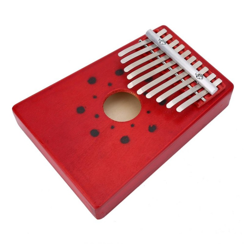 Traditional 10 Keys Thumb Piano for Child Musical Instrument Accompaniment Training Tool(Red) - intl