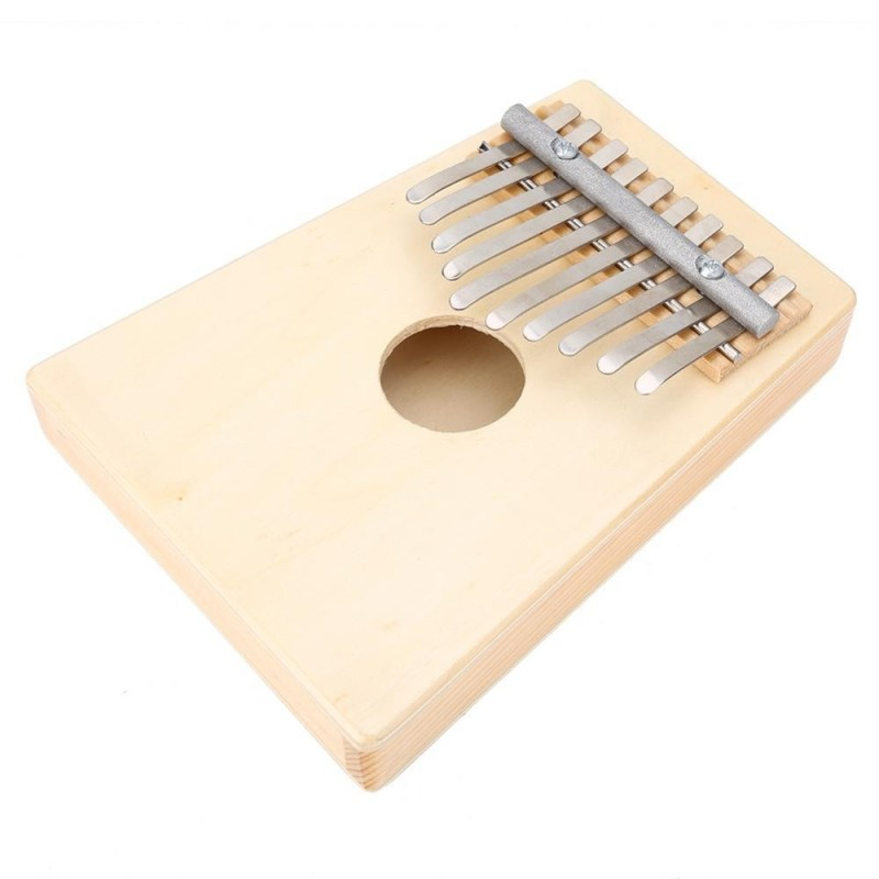 Traditional 10 Keys Thumb Piano for Children Musical Instrument Accompaniment(Wood Color) - intl