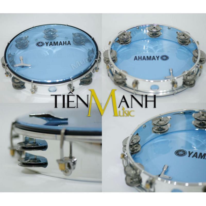 Trống lắc tay - Lục lạc gõ bo Tambourine Yamaha MT6-102B (Xanh Trong Suốt - Trống chơi nhạc chế gõ po - Xipo)