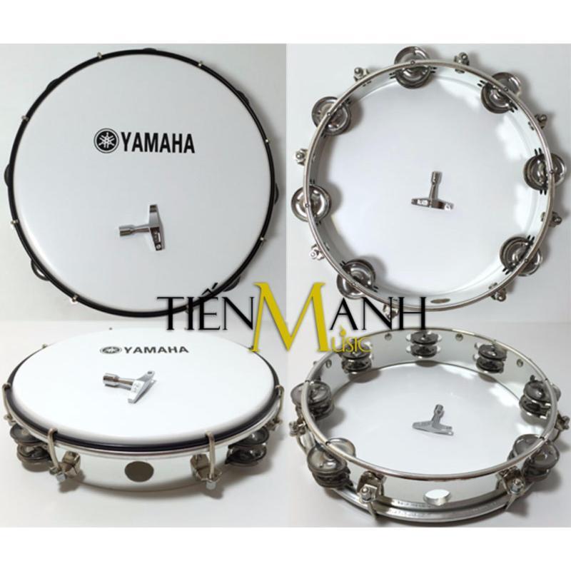 Trống lắc tay - Lục lạc gõ bo Tambourine Yamaha MT6-102A (Trắng - Trống chơi nhạc chế gõ po - Xipo)