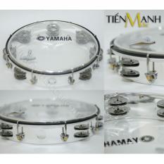 Trống Lắc Tay - Lục Lạc Gõ Bo Tambourine Yamaha MT6-102T (Trong Suốt - Trống Chơi Nhạc Chế Gõ Po - Xipo) Cùng Giá Khuyến Mãi Hot