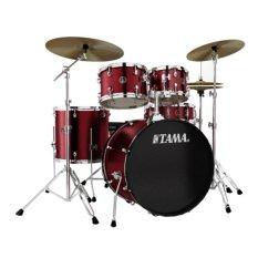 Ôn Tập Trống Tama Rm52Kh6C Wr Rhythm Mate Bộ 5 Trống Mau Đỏ Rựu Vang Hardware Cymbal Va Ghế Trống Tama