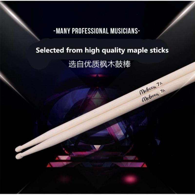 Zoo on Yoo 1 Pair maple Wood 7A Drum Sticks Jazz Drumsticks Shelf Drum Stick Model 7A - intl