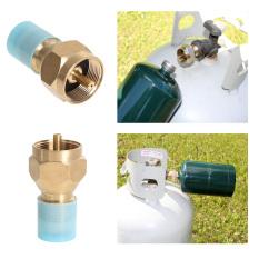 Hình ảnh 2PCS Propane Refill Adapter Lp Gas Cylinder Tank Coupler Heater Camping (Intl)