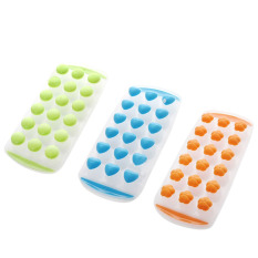 Hình ảnh 3 Pcs Easy Push Pop out round Mini Ice Cube Trays with Flexible Silicone Bottom - intl